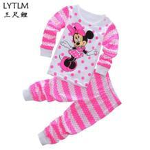 /детский пижамный комплект для маленьких мальчиков и девочек, пижама с Минни и Микки, пижамный комплект с длинными рукавами, летние комплекты одежды для маленьких девочек LYTLM 32864798452