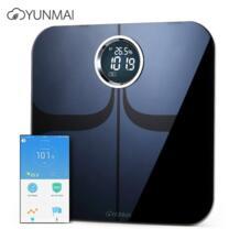 YUNMAI M1301 Смарт напольные весы Bluetooth 4,0 приложение Управление тестер состава тела 4,0 дюйма Concea светодиодный Светодиодный Экран 2019 No name 32978713324