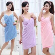 Новый дизайн Лидер продаж пикантные с v-образным вырезом Для женщин пляжные мягкое полотенце микрофибра ткань розовый переносной Ванна Полотенца s суперабсорбирующих халат для девочки Colorful Bulldog 32854267294