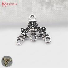 (31637) 50 шт. 18x17 мм античное серебро Цинк сплав с цветком деталь для серег Подвески Diy ювелирных изделий Аксессуары оптом Rosediy 809065019
