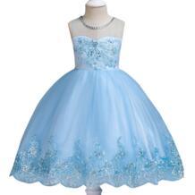 Платье принцессы с цветочным рисунком высокого качества для девочек, одежда для детей, платья для первого причастия для девочек, костюм для малышей, платья с расцветкой PLBBFZ 32991722465