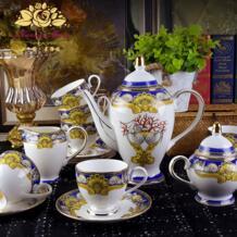 Европейский Стиль Ocean костяного фарфора Coffeware комплекты Высокое качество день Чай комплект Творческий керамический кофе чашки костюм Бесплатная доставка Pidgeotto 32951200220