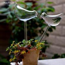 1/комплект из 2 предметов для садового полива растений устройства домашний автоматический с рисунком в виде птиц для Лебедь Стекло сад Стекло разбрызгиватель для воды рьего Por Goteo No name 32906518235