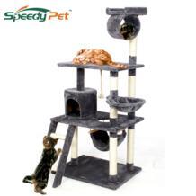 LargeToys доставка в домашних условиях забавная игрушка для прыжков с лестницей скребок дерево для скалолазания кошек рама мебель для кошек-in Мебель и когтеточки from Дом и животные on AliExpress Speedy pet 33063042888