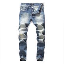 Итальянский стиль, модные мужские джинсы, высокое качество, синий цвет, облегающие брюки на пуговицах, рваные джинсы, бренд , классические джинсы для мужчин-in Джинсы from Мужская одежда on Aliexpress.com   Alibaba Group Balplein 32601849675