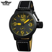 Большая Корона часы для мужчин Элитный бренд спортивные Военная Униформа автоматические механические Rattrapante наручные часы кожаный ре T-winner 32232392045