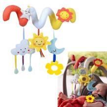 Плюшевые луны и звезд облака для новорожденных Симпатичные мягкие музыкальные детские Украшения в спальню музыкальный мобиль вокруг кроватки Strolle детские украшения OLOEY 32917979776