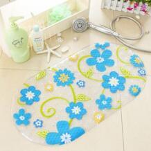 Высокое качество красочные цветочные точки ПВХ нескользящий коврик для ванной ванна коврик для душа 69*38 см XINJIAJIA 32788808314