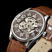 мужские новые модные роскошные золотые часы с скелетом прозрачные Механические мужские модные спортивные часы Relogio masculino C878 Sewor 1744662799