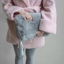 Искусственный мех для женщин кожа сумки модные ленточки сумка Индивидуальные Повседневный клатч зима Bolsas дамы раза над сумочкой sophy's world 32789632390