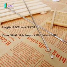 Супер длинные, 3 мм супер сырой Большой отверстие 25 см и 30 длина бытовой ручной Вышивание упаковка инструмент сталь иглы S0084L Satin MAJOR IN COMMODITY 32819339818