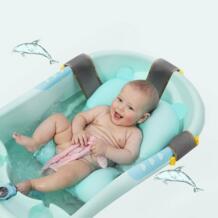 Для новорожденных Ванна складной мультяшный коврик мягкое сиденье младенческой раковина душ ребенка играть подушка для ванны детская надувной лежак для купаний мат Babyyuga 32893111845