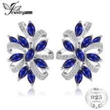 JewelryPalace уникальный Дизайн 2.1ct создан серьги-клипсы натуральная 925 пробы Серебряные ювелирные изделия Клип серьги хороший подарок No name 32333529384