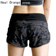 Восстанавливает оранжевый Йога шорты Для женщин сжатия Короткие штаны Pantalon Corto для йоги Для женщин тренажерный зал Фитнес Йога шорты для тренировки Спорт Бег No name 32697078805