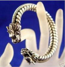 2 шт. Редкие Тибет серебряный резной дракон браслет Бесплатная доставка No name 464596102