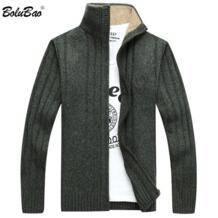 осень 2018 г. Новый для мужчин свитер Повседневный пуловер средства ухода за кожей Шеи Лоскутное качество вязаный Bolubao 32899160902