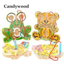 Детские игрушки Лабиринт Монтессори Деревянные Бусы лабиринт игры игрушки детские развивающие деревянные игрушки Candywood 32577289207