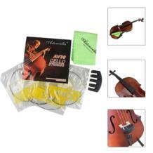 Набор аксессуаров для виолончели, струны + ткань для чистки + Mute 3 в 1 для начинающих виолончели, музыкальные инструменты, Запчасти и аксессуары, дропшиппинг No name 32924933803