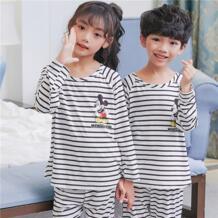 Детские пижамы, новинка 2018 года, детская одежда для сна, пижамы с длинными рукавами для мальчиков, детская весенне-осенняя домашняя одежда для девочек, бесплатная доставка EJIAMEIJR 32857389885