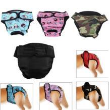 Домашние трусы для течки, брюки из хлопка, смешанные S/M/L/XL, большие памперсы, подгузники для собак, регулируемые шорты для суки самоедов VKTECH 32879796954