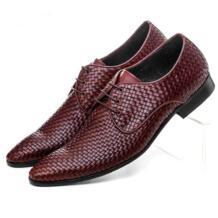 Качество ткани с острым носком Мужская обувь в деловом стиле платье из натуральной кожи обувь мужская формальная свадебные туфли No name 1751223039