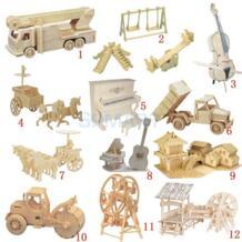 3D деревянные пазлы по дереву строительный комплект подвижная Модель Набор DIY Пазлы детские развивающие игрушки MagiDeal 32712871067