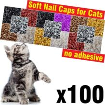 Шт. 100 шт. мягкие колпачки для ногтей для кошек/* XS, S, M, L, cover, cat, paw, claw, zoe */ ZETPO 32884607237
