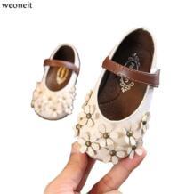 принцесса для маленьких детей обувь для девочек кожаные туфли мягкая подошва для малышей обувь весна осень Младенческая Милая Вечерние и свадьбы weoneit 32919183335