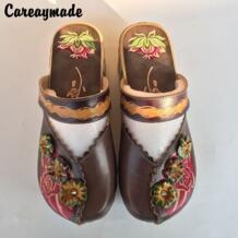 -обувь ручной работы из воловьей кожи в народном стиле, обувь в стиле ретро mori girl, женская повседневная обувь, Sandals1510-6 Careaymade 32693042164