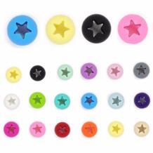 Тыры. Ху 50 шт Hollow звезда детские Четки Для режущихся зубов круглые силиконовые бусы для изготовления ювелирных изделий жевательное ожерелье для прорезыватель из ДФП Бесплатная 15 мм TYRY.HU 32823833170