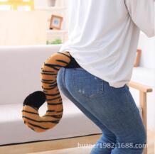 Моделирование животных Тигр Гепард животных хвост куклы плюшевые игрушки Имитация животных Производительность реквизит No name 32874910926