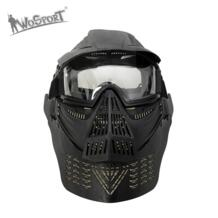 Военное Дело Полный Для лица Пейнтбол маска армия тактическая игра войны защиты Для лица Маски очки Аксессуары для пейнтбола WoSporT 32748032753