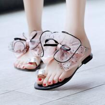PXELENA/милый сладкий летний бабочка женщин девочек повседневные туфли на плоской подошве с кольцом Пляжные сланцы Босоножки, шлепанцы слайды горошек обувь No name 32412344468