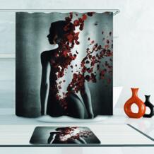 Товары для ванной 180*180 см 3D занавески для душа с цветочным принтом водостойкие полиэфирные занавески для ванной комнаты домашние экраны для ванной VKTECH 32811778249