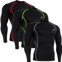 Для мужчин Рубашки для мальчиков сжатия Костюмы Велоспорт обучение ММА Спорт Тренажерный зал Бодибилдинг Фитнес быстросохнущие футболки с длинными рукавами рубашка No name 32715265015