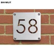 Изготовленный на заказ номер дома лазерной резки из нержавеющей стали, номера и плащи No name 32868957876