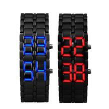 1 пара Relogio Feminino Элитный Бренд женское платье Для мужчин часы Сталь кварцевые часы черный светодиодный часы для женщины Waches malloom 32603804898