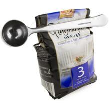 Горячее предложение 2 в 1 нержавеющая сталь молотый кофе мерный Совок Ложка с мешком уплотнение зажим для дома принадлежности для кухонного бара Чай Кофе Инструменты No name 32843655502