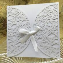 40 шт романтическая переливающийся Свадебное приглашение из бумаги карты бабочки резные выдалбливают поделки вечеринка, свадебный банкет sweet made 32803601099