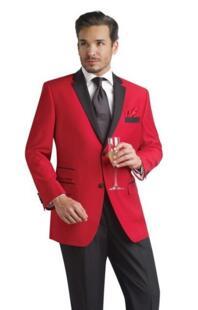 Изготовление под заказ красный черный цвет смокинг Для мужчин свадебные костюмы продвижение Для мужчин эксклюзивная Модный комплект Для мужчин Бизнес костюм куртка + брюки + галстук No name 1884330654