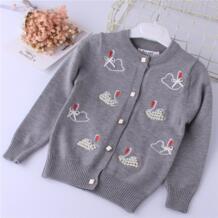 YGJR-170732 2018, свитер для маленьких девочек, Модный Кардиган для девочек, свитер для девочек, одежда для девочек, свитер с узором, детская одежда RuiYao 32816890947