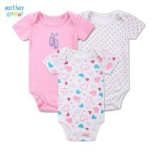 3 шт./лот маленьких Ползунки для малышек От 0 до 12 месяцев с короткими рукавами для младенцев мультфильм recien nacido Обувь для девочек мутные Костюмы Одежда для новорожденных No name 32654534025
