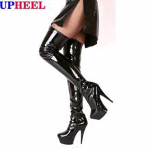 UPHEEL Пикантные модные сапоги выше колена на высоком каблуке (15см) ботфорты на платформе (5см) No name 2031884342