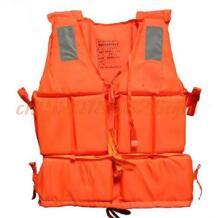 Новые оранжевые взрослых Пена флотации плавательный жилет спасательный жилет со свистком No name 32813856427