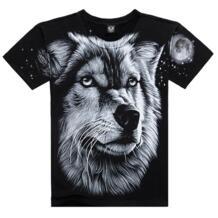 2017 брендовая одежда новый Для мужчин летняя футболка 3D принтом волка футболки короткий рукав бренд Футболки-топы M ~ XXXL большой Размеры хлопковые футболки Rocksir 32265723703