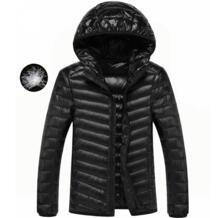 Лидер продаж зимние Для мужчин Ultra Light белая утка вниз куртка с капюшоном Высокое качество пальто Для мужчин s Костюмы Теплая парка верхняя одежда ZZ095 Seanmase 32848141853