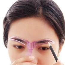2018 Горячие Профессиональный макияж инструменты Груминг рисунок Blacken бровей Шаблон Maquiagem пластиковые инструменты случайных цветов ISHOWTIENDA 32816280836