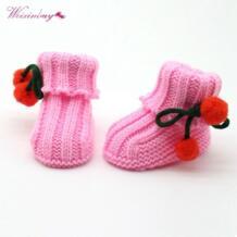 для маленьких мальчиков Обувь для девочек теплая вязать крючком Носки для девочек ясельного возраста шерсть Сапоги и ботинки для девочек Обувь для младенцев, RZ WEIXINBUY 32829446854