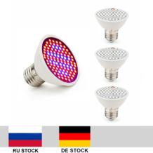4 шт./лот 10 W 106 светодиодов светать 80Red и 26 синий E27 полный спектр завод лампы для внутреннего цветущих растений Vegs гидропоники Системы Derlights 32651091391