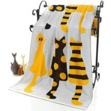Милое хлопковое газовое банное полотенце для взрослых с рисунком кота, домашний текстиль, большое полотенце, банный халат для кемпинга, спортивное пляжное полотенце, детское одеяло YMQY 32853828384